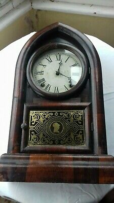 Antique. American.  'Welch'  8 Day Bee Hive clock