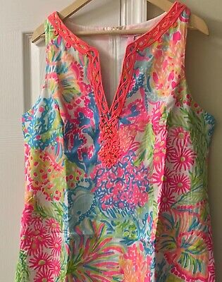 9e44212ec24fb6 NWT Lilly Pulitzer ~LOVERS CORAL~ RYDER Shift DRESS ~PINK BEACH~ (16