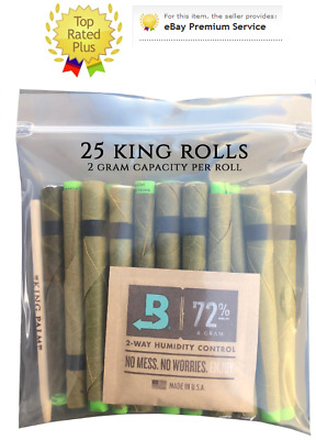 25 x King Palm Leaf Wraps (KING Size)  (1 Pack - 25 Rolls) Authorized Seller