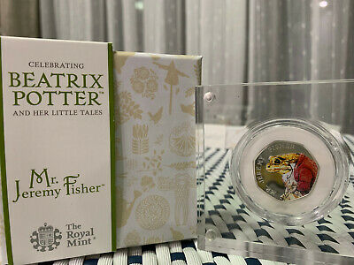 50p Silver Proof Coin Jeremy Fisher Beatrix Potter 2017 UK Royal Mint No. 22080