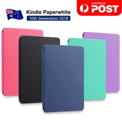 Flip Leather Folio Case Cover Slim Magnetic Amazon KINDLE Paperwhite 10th 2018