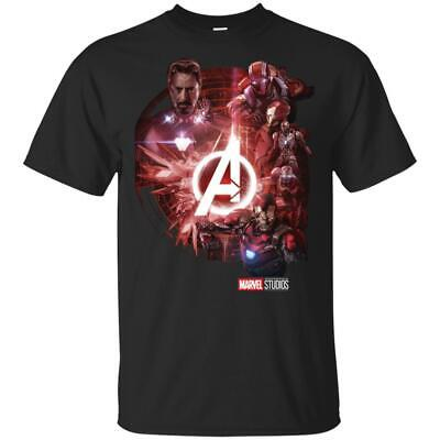 1913a9eb Iron Man T-Shirt Iron Man Marvel Avengers End Game Tee Shirt Short Sleeve S