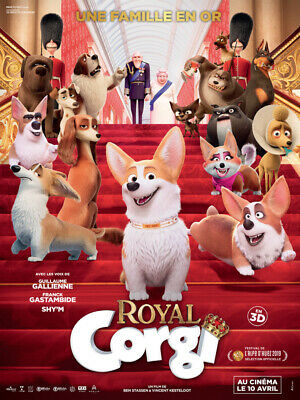 ROYAL CORGI - Affiche cinema 40X60 - 120x160 Movie Poster