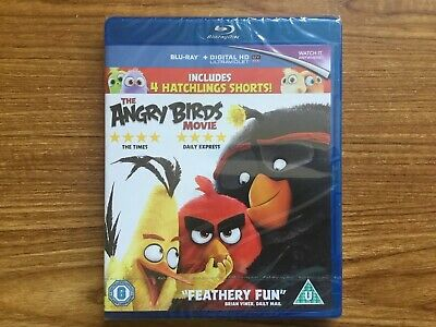 The Angry Birds Movie (Blu Ray) NEW Fast Post