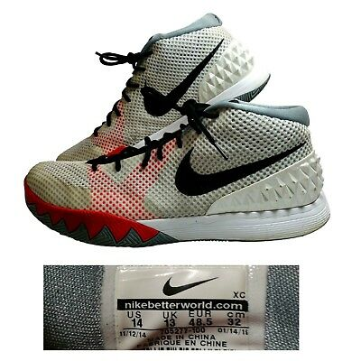 meet 91df4 a984c Nike~Kyrie 1~Men s 14~Basketball Shoes~Black Infrared Red White Grey