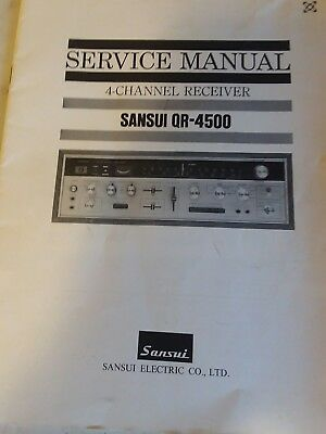Sansui QR-4500 SERVICE MANUAL and schematics