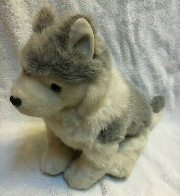 """RARE 1993 TY Classic Beanie Baby Timber The Husky 18"""" Plush Toy Dog Wolf Babies"""