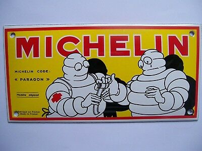 Stove Enamel Michelin Tyres Badge Plaque Sign Man Cave Garage Good Quality