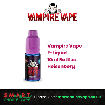 Vampire Vape E-Liquid 10ml Bottles Heisenberg Best Selling E-liquid Fast & Free