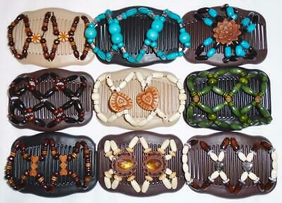 "Angel Wings Hair Clips 4x3.5"", African Butterfly Style, Magic Combs, Quality S47"
