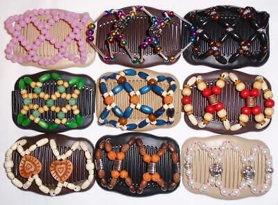 """Angel Wings Hair Clips 4x3.5"""", African Butterfly Style, Magic Combs, Quality S18"""