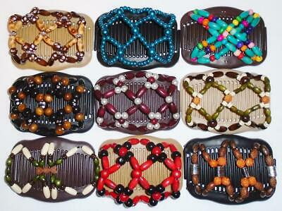 """Quality S18 African Butterfly Style Angel Wings Hair Clips 4x3.5/"""" Magic Combs"""