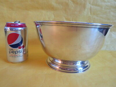 "Shreve Crump & Low Sterling Silver 9"" Thomas Bolton Revere Bowl 808G NO MONO"
