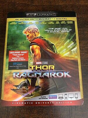 Thor Ragnarok 4K Ultra HD & Blu-ray 2 Disc Set Movie (No digital code)