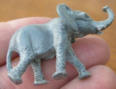 Beautiful Cold Painted Lost Wax Cast Miniature Novelty Elephant / Dumbo
