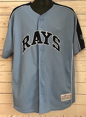 promo code 9a18c 95b9d TAMPA BAY RAYS MLB Mens Majestic Black Fashion Jersey Size ...
