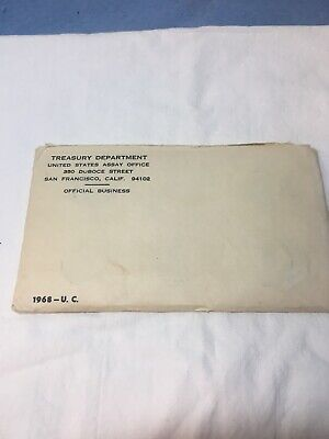 1968 P & D US Mint Set United States Original Government Packaging Box Cello
