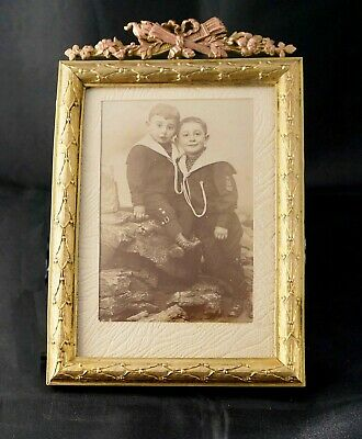 Antique Gilt Brass & Bronze Louis XVI Style  French Photo Frame, late 19th c.