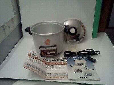 HITACHI Chime-O-Matic Automatic Rice Cooker Food Steamer 5.6 Cup RD-4053 NR MINT