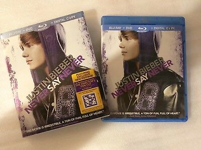 JUSTIN BIEBER NEVER SAY NEVER BLU-RAY DVD  Exclusive New Footage