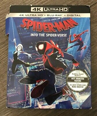 Spider-Man Into The Spider-Verse (4K Ultra HD + Blu-ray) NEW