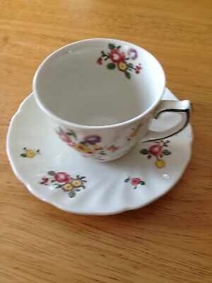 Vintage Royal Doulton Old Leeds Sprays Demitasse Cup And Saucer D 6203  EUC