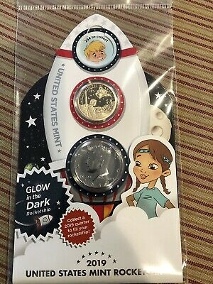 """2019 Rocketship Kennedy Half with """"Proof Like"""" Finish Sealed in OGP"""