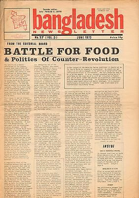 BANGLADESH NEWSLETTER June 1973 Battle for food - Politics of Counter Revolution