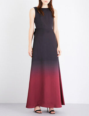 e2fe04b2db54 TED BAKER black red ombre bow back long skirt maxi dress evening gown party  3 12