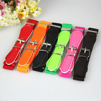Baby Kid Girls Adjustable PU Leather Casual Belts Elastic Dress Waistband New