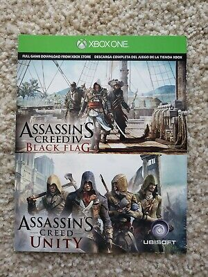 Assassin's Creed IV Black Flag & Unity - Digital Download Card - XBOX ONE