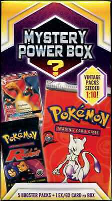 0918f2d272 Pokemon Mystery Power Box Factory Sealed 5 Booster Packs Walmart Vintage New !