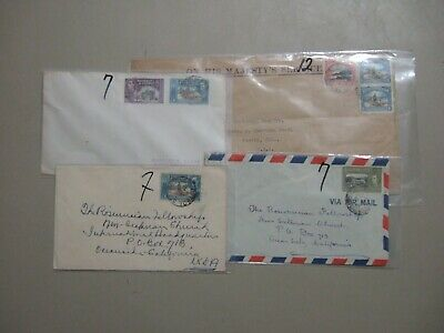 Four '50 British Colonies Trinidad Tobago covers with different nomination stamp