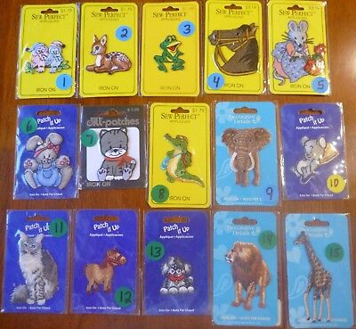 Iron On / Sew On Embroidered Applique Patches - Animals - Free Fast Shipping