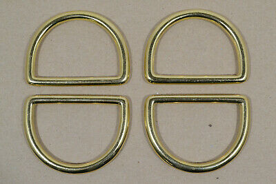 """Dee Ring - 2"""" - Solid Brass - Pack of 4 (F475)"""