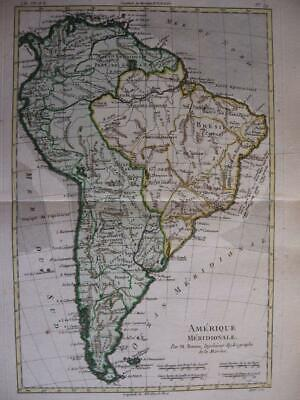 1780 - BONNE - Map  SOUTH AMERICA