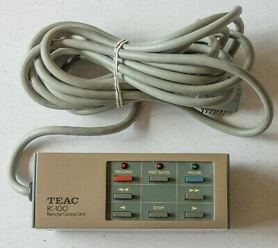 TEAC RC-100 Wired Remote Control for X-7R X-10R X-20R X-1000R etc CLEAN & TESTED
