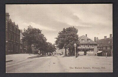 Oxfordshire Oxon WITNEY Market Square pre1919 PPC by Frank Smith #902