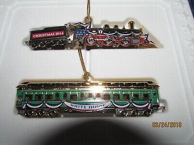 *NEW* The White House Historical Association Christmas Tree Train Ornaments 2014