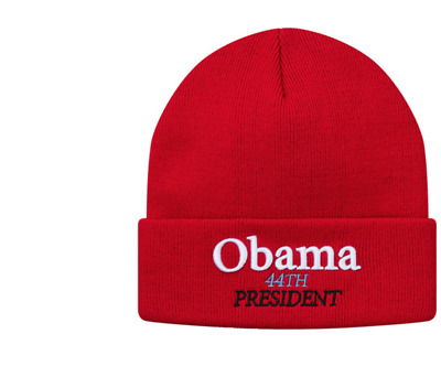 819d43eee OBAMA 44TH PRESIDENT Beanie Winter Cap Hat One Size Fits All ...