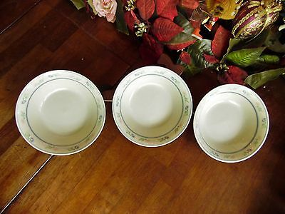"""3 Used Tienshan Wild Flowers Soup Or Cereal Bowls 6 3/4""""r X 2""""h"""