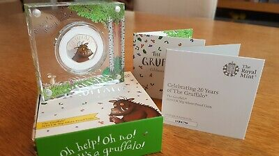 1x Royal Mint The Gruffalo 2019 50p Fifty Pence Silver Proof Coin, verylow CoA!
