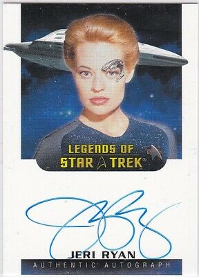 Star Trek The Women Of 50Th Anniversary Jeri Ryan As Seven Of Nine Autograph Vl