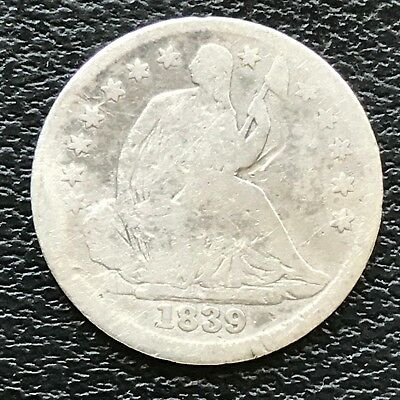 1839 Seated Liberty Half Dime 5c Circulated #13780
