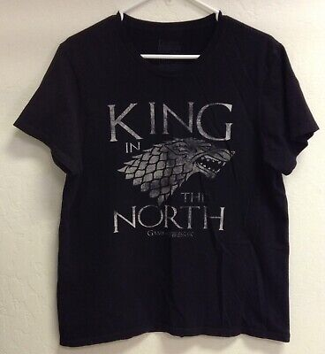 HBO Game Of Thrones King In The North Stark Direwolf Adult Large Tee T-Shirt