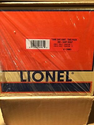 Lionel 6-26981 Die Cast Gulf Tank Car 2 Pack FACTORY SEALED & UNOPENED