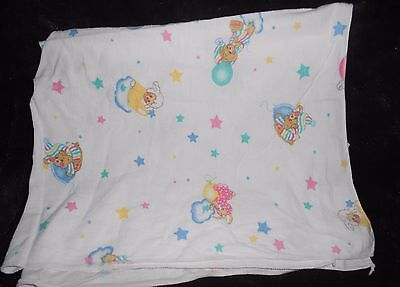 Riegel Teddy Beddy Bear Receiving Baby Blanket White Cotton Little Lambsy Dozy
