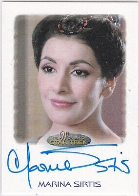Star Trek The Women Of 50Th Anniversary Marina Sirtis As Troi Tng Autograph Vl