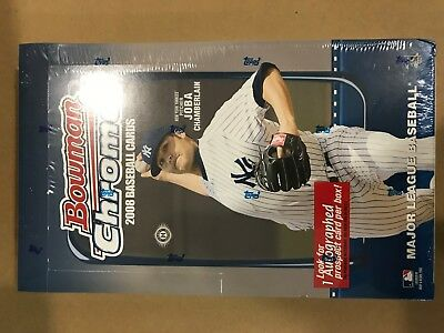 2008 BOWMAN CHROME Baseball HOBBY BOX FACTORY SEALED FREE SHIPPING 1 AUTO / BOX