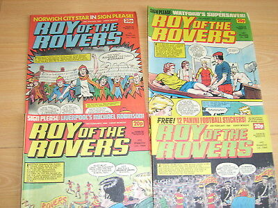 Vintage Comics Roy of the Rovers Jan Feb 1984 job lot Roy of the Rovers comics
